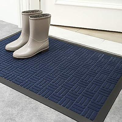 DEXI Door Mat,Durable Rubber Doormat for Indoor Outdoor, Non-Slip, Waterproof, Easy Clean, Low-Profile, Commercial Floor Mats for Inside Outside
