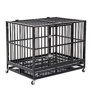 9. Walcut Metal Dog Crate