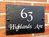 Slate House Sign Address Door Number House Plaque 25x18cms, 10 inch x 7 inch (Free postage)