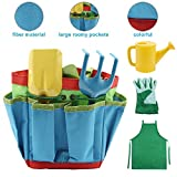 Kids Gardening Tool Set Rounded Edges and Tote Bags Great Spring Gift for Children