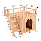 Pet House Wooden Dog Cat Puppy Room Bed Platform Bed Shelter Indoor Outdoor
