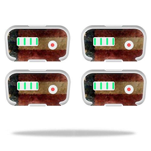 MightySkins Protective Vinyl Skin Decal for DJI Phantom 3 Battery Batteries (4 Pack) wrap Cover Sticker Skins Vintage Flag