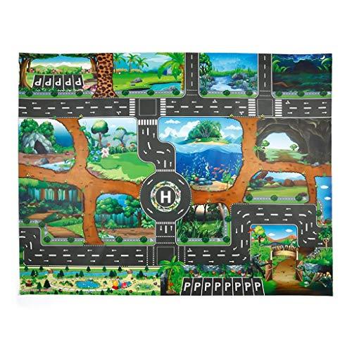Kids Play Mat Dinosaur World Parking Map Game Scene Map Educational Toys from Starpromise
