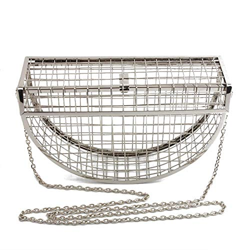 Unique Color Plated Taille pour Femme Color Silver Plated Silver MANYYSI Pochette nzXpqz0
