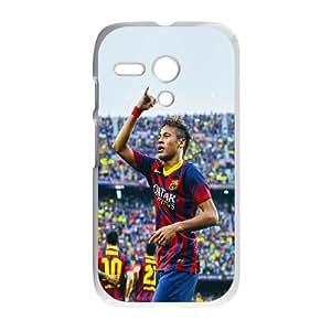 Motorola G Cell Phone Case White_hb18 nemar barcelona soccer sports face Jlrcp