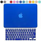 MS factory MacBook Pro 13 ケース + 日本語 キーボード カバー ハードケース Mid 2010~Mid 2012 / A1278 ディスクスロット搭載 対応 全14色カバー RMC series マックブック プロ 13.3 インチ マット加工 ブルー 青 RMC-SETP13MBL