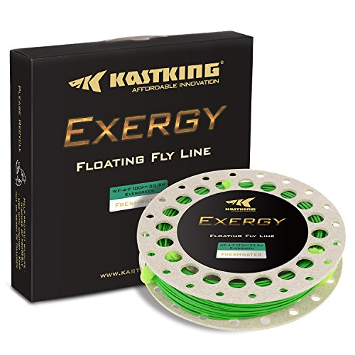 KastKing Exergy Fly Fishing Line - Weight Forward Floating Lines for Freshwater - Double Micro Loops - Laser Printing - BioSpool - Available in 5 Colors, Super Value! (Freshwater Line Floating Fly)