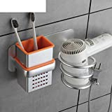 Hair Non-perforated Dryer Machine Wall Toilet Rack Bathroom Set Air Duct Rack Bathroom/Toilet Storage Rack-A