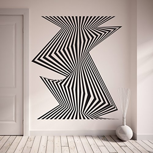 Royal Blue Wallpaper - Optical Stripes Wall Decal by Style & Apply - Wall Sticker, Vinyl Wall Art, Home Decor, Wall Mural - SA3051-31in x 35in-Royal blue