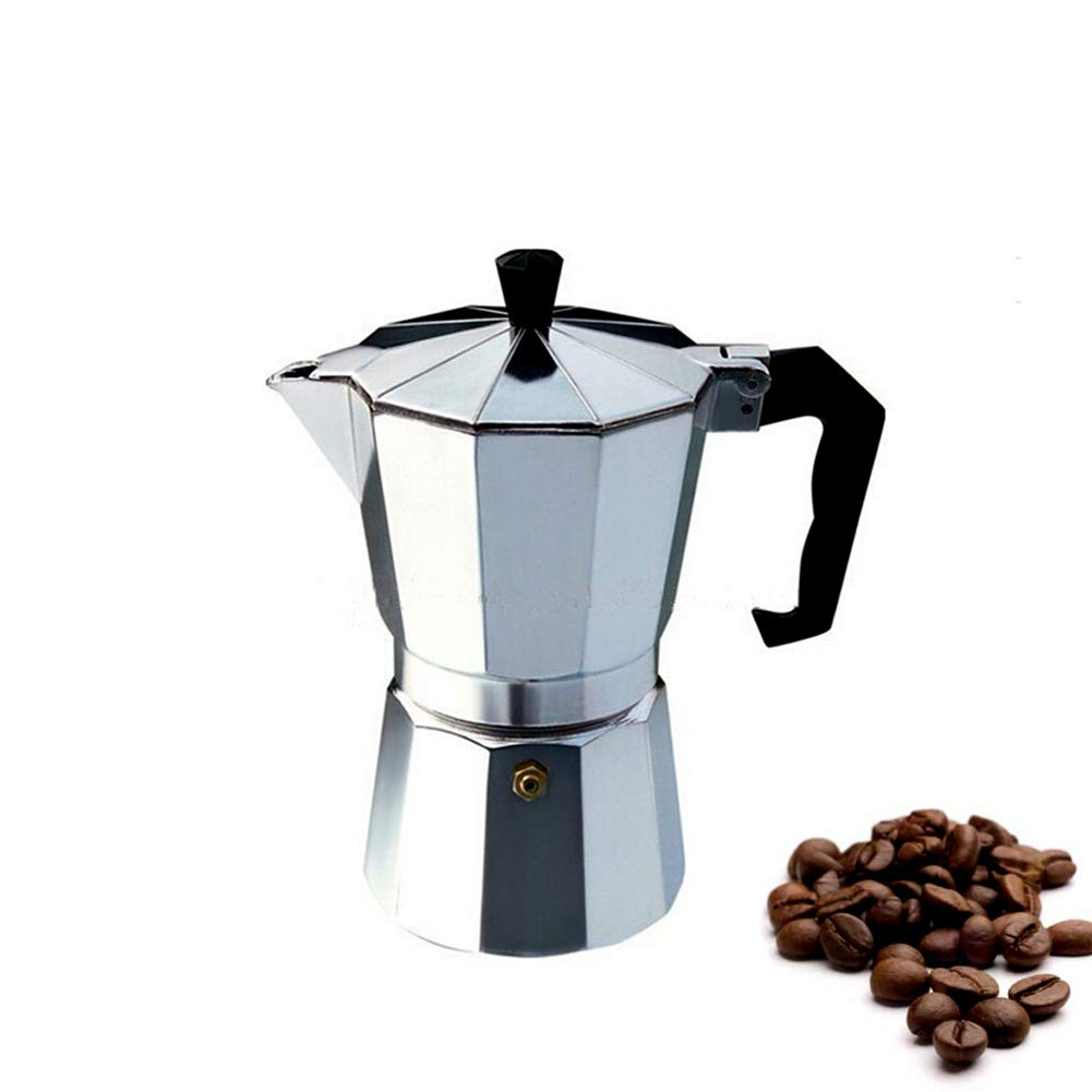Moka Pot Coffee Maker Stovetop Espresso Maker (3-cup)