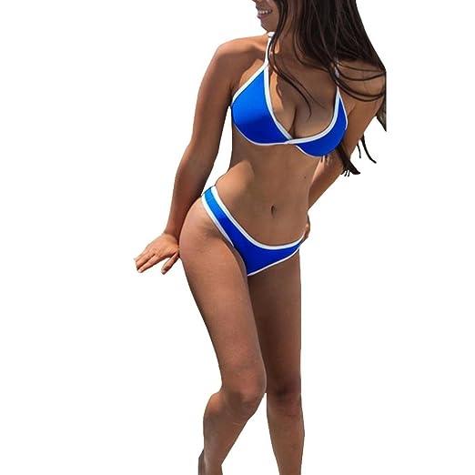 8632ab040cd Women Sexy Triangle Brazilian Bikini Set Cheeky Bottom Thong Two Piece Swimsuit  Bathing Suit  Clothing