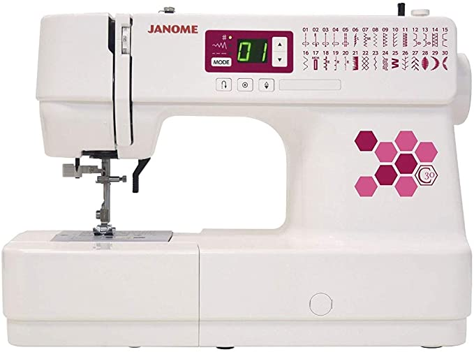 Janome C30 - Máquina de coser, color blanco: Amazon.es: Hogar