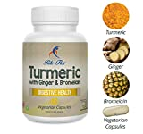 Turmeric with Ginger & Bromelain, 60 Vegetarian Capsules, Herbal Botanical Formula Supports Digestive Health by Rite Flex