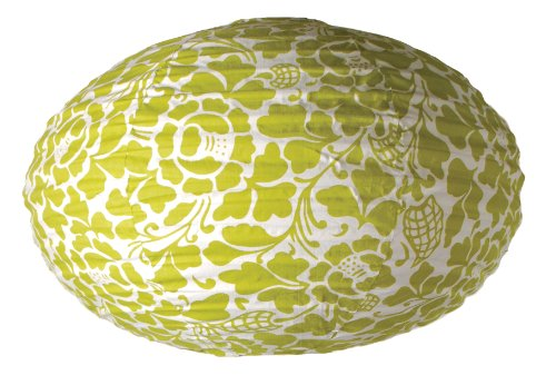 Green Bali Shade - zenDeluxe by zen zen Bali Green Oval Lamp Shade