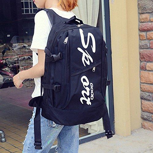 Sabre Scuola CLOOM Casual da Zaino Grande viaggio studenti Tasche unisex Zaino Nero Messenger Bag capacità Borsa Classic per Donna da Zaino Moda Bag donna Borsa zaino Retro RnPxrR