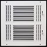 12'' x 12'' 3-WAY SUPPLY GRILLE - DUCT COVER & DIFUSER - Flat Stamped Face