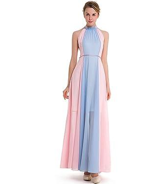 vari tipi di qualità del marchio Acquista autentico KAXIDY Vestiti da Donna Lungo Vestito Vestiti Eleganti per Ragazze Abiti di  Sera Vestito da Sera Rosa+Blu
