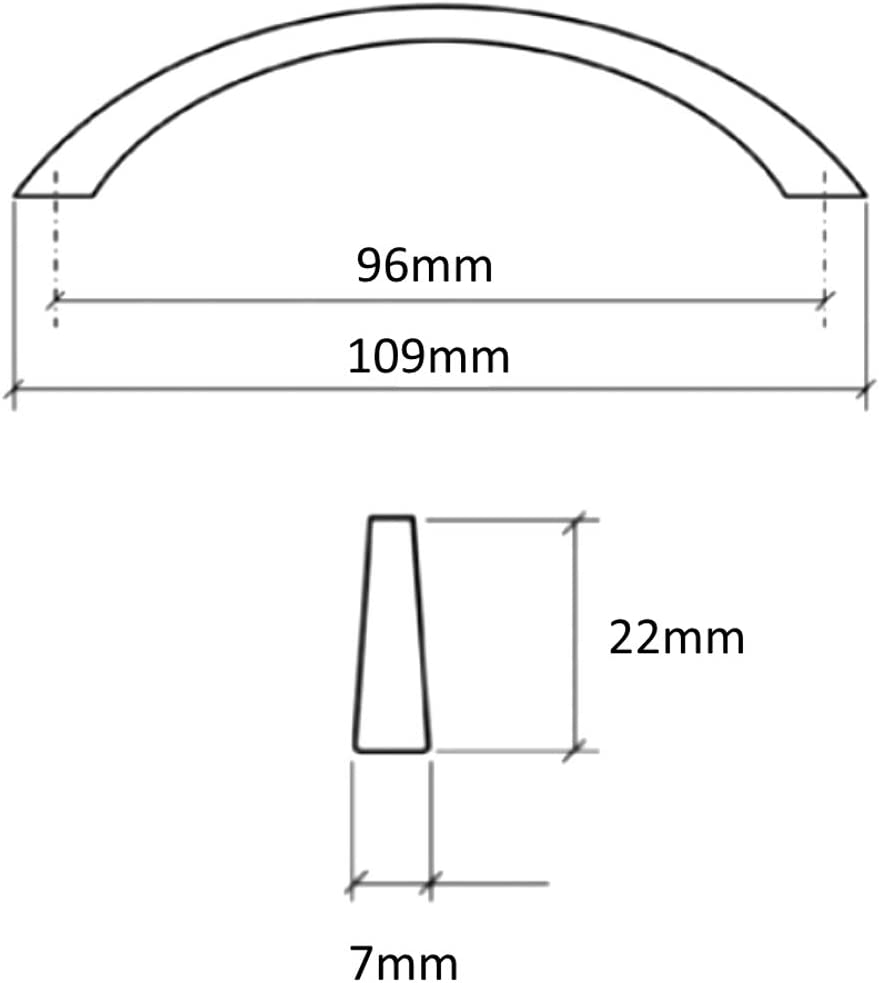 5x Tirador para caj/ón alacena puerta mueble armario Oronte plata sat/én 96mm C41398 AERZETIX