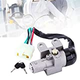 Qiilu Motorcycle Key Ignition Switch Control Lock Set For GY6 Scooter Moped 110 150 250CC 49 50CC
