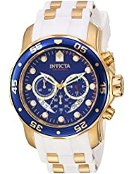 Invicta Mens Pro Diver Quartz Stainless Steel Casual Watch, Color:Gold-Toned (Model: 20288)