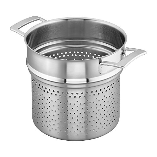Henckels Stainless Steel Pasta Insert (Demeyere Industry 5-Ply 8-qt Stainless Steel Pasta Insert (Fits 8-qt Stock Pot))