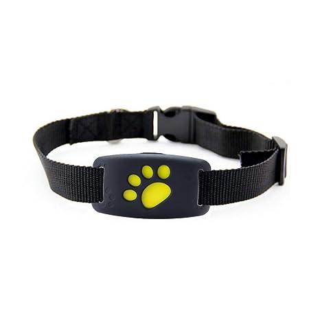 Sunzit Rastreador GPS para Mascotas, Perros y Gatos Dispositivo de Seguimiento GPS para Mascotas,