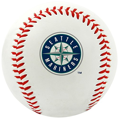 Rawlings MLB Seattle Mariners Team Logo Baseball, Official, White (Seattle Mariners Mlb)