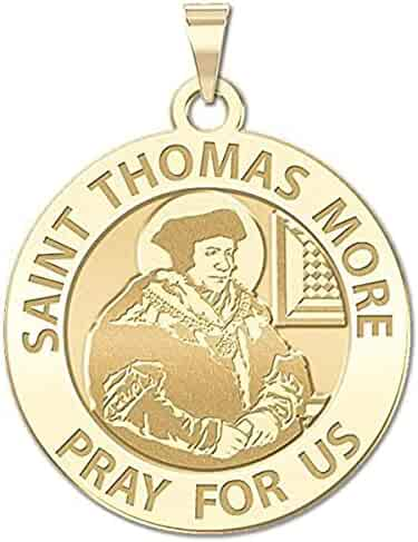 PicturesOnGold.com Saint Justin Martyr Religious Medal 10K And14K Yellow or White Gold or Sterling Silver