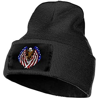 Eagle American Flag Men Women Winter Beanie - Unisex