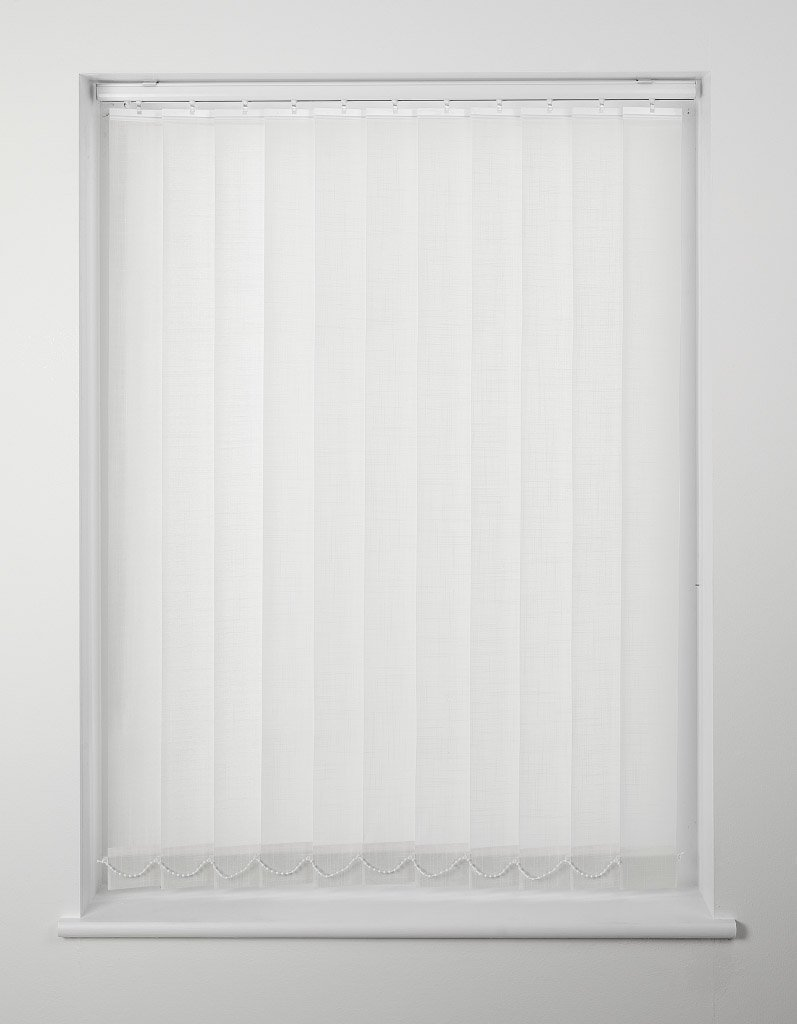 Harrison Drape Vertical Blind 183cm x 137cm Vane Length White …