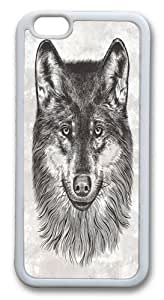 Canis Lupus (Gray Wolf) Custom iphone 6 (4.7) inch Case Cover TPU White