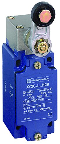 Telemecanique XCKJ OsiSense XC Standard Limit Switch, SPDT Contacts, Non-Plug In, Rotary Head, Delrin Roller