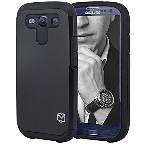 S3 Case, MP-MALL [Dual Layer] [Shockproof] Armor Hybrid Defender Anti-Drop Rugged Premium Protective Case Cover Fit For Samsung Galaxy S3 (Galaxy S3 Phone Cases Samsung)