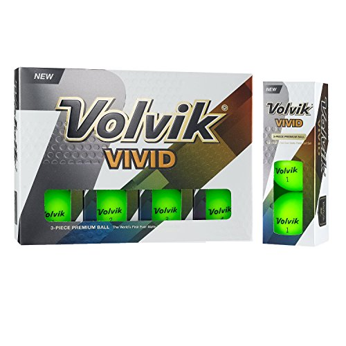 Volvik Vivid Golf Balls, Matte Green (One Dozen)