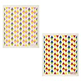 Wet-It Swedish Dishcloth Set of 2 (Pastel and Primary Color Triangles)