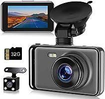 【令和最新型】ドライブレコーダー 前後カメラ 高画質 32Gカード付き 1080PフルHD 2カメラ 170度広角 LED信号機対策 スーパーナイトビジョン 操作簡単 上書き機能 WDR技術 防犯カメラ...