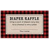 48 cnt Lumberjack Baby Shower Diaper Raffles