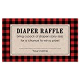 MyExpression.com 48 cnt Lumberjack Baby Shower Diaper Raffles
