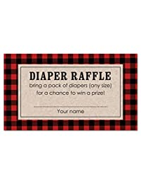 48 cnt Lumberjack Baby Shower Diaper Raffles BOBEBE Online Baby Store From New York to Miami and Los Angeles