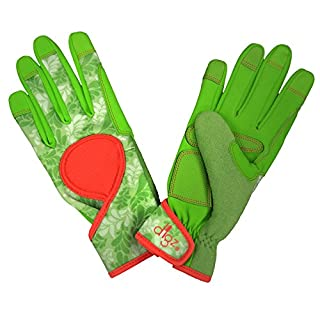 DIGZ 7651-23 Touch Screen Compatible fingertips, Small Signature High Performance Women's Gardening Gloves and Work Glov