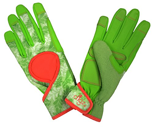 (DIGZ 7652-23 Touch Screen Compatible fingertips, Medium Signature High Performance Women's Gardening Gloves and Work Glov)
