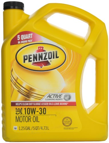 Pennzoil 550038360 10w 30 motor oil sn gf 5 5qt jug for What is synthetic motor oil made out of