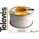 Televes - 100M Cable Coaxial Blanc 17 VATC ClassA Televes 2127 CXT-1 - 2127