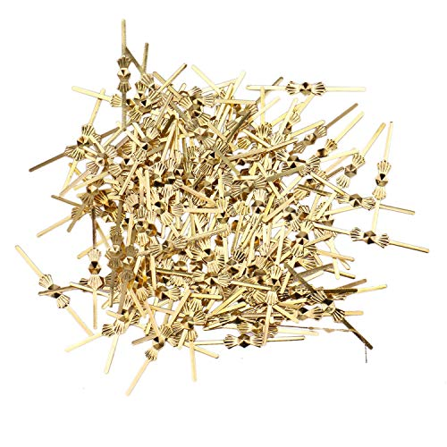 JETEHO 300Pcs Gold Bow Tie Clip Chandelier Connectors Clips pins for Fastening Crystals Parts 33mm