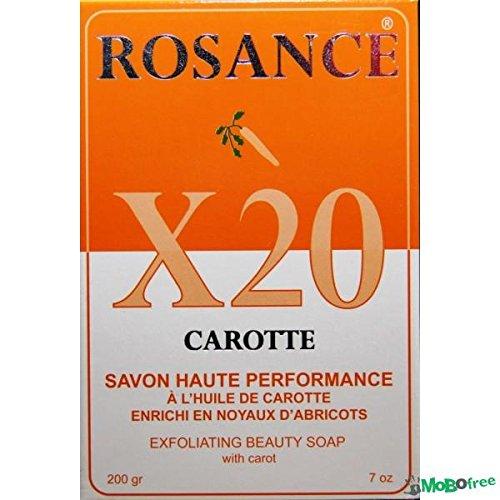 rosance X20zanahoria Carotte exfoliación de la piel de belleza jabón 200g–por Sonik rendimiento