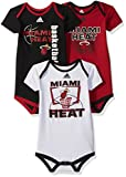 heat suit - NBA Infant Miami Heat 3 Point Bodysuit Set-Black-24 Months