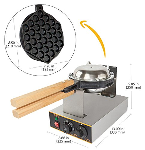 ALD Kitchen Puffle Waffle Maker Professional Rotated Nonstick ALD Kitchen 110V US Plug by ALDKitchen (Image #3)