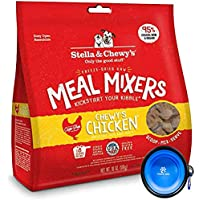 Stella & Chewy's Freeze Dried Dog Food,Snacks Super Meal Mixers 18-Ounce Bag, Bundle Pack with Hotspot Pets Food Bowl…