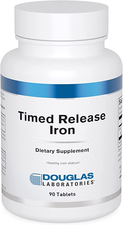 Douglas Laboratories - Timed Released Iron - Helps Support Anemia, Lethargy, Tiredness, Red Blood Cell Production and Oxygenation - 90 Tablets