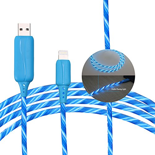 BEISTE Lightning USB Charger and Sync Cable, Luminous Flowing EL
